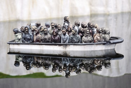 Part of an installation is pictured at 'Dismaland', a theme park-styled art installation by British artist Banksy, at Weston-Super-Mare in southwest England, Britain, August 20, 2015. REUTERS/Toby Melville TPX IMAGES OF THE DAY