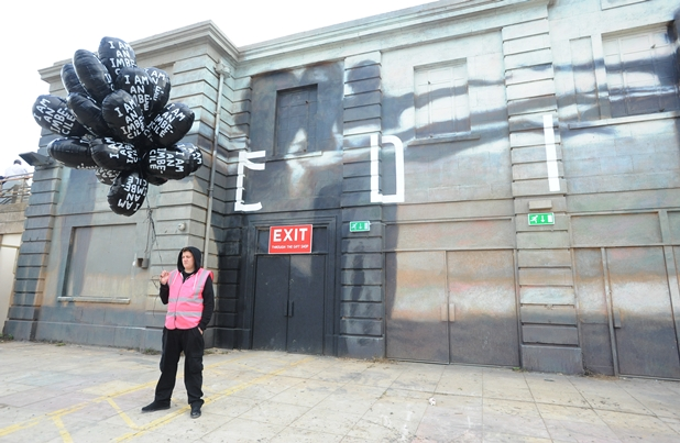 MUST CREDIT JENNIE BANKS Banksy's Dismaland Bemusement Park opens at the Tropicana in Western Super Mare on Saturday to the public. 20/08/15 MUST CREDIT Picture by JENNIE BANKS